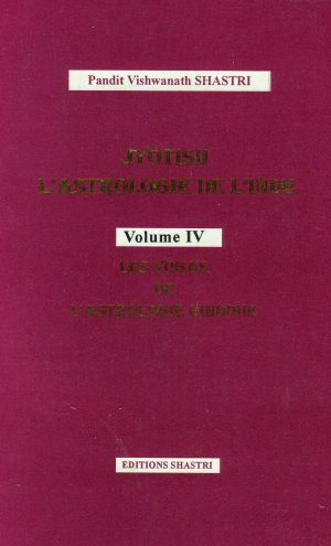 Jyotish l'Astrologie de l'Inde Vol 4 IV Couverture